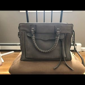 Rebecca Minkoff grey top handle and crossbody bag